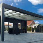 Навесы для дачи из алюминия и поликарбоната