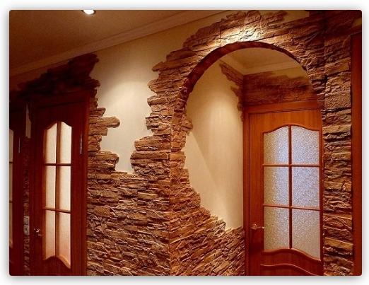 Декоративний камінь в інтер'єрі - ідеї інтер'єру