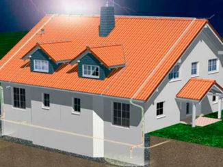 защита здания от ударов молнии