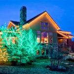 Светодиодная подсветка загородного дома
